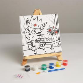 Canvas for painting 15 * 15, three cat caramel Princess 296765