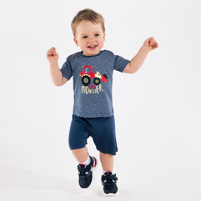 Комплект для мальчика, цвет синий, рост 80 см - фото 282127347