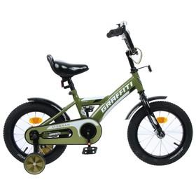 "Велосипед 14"" Graffiti Storman, цвет хаки"