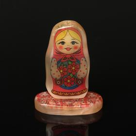 "Сувенир  на подставке""Матрёшка № 8"", селенит в Донецке"