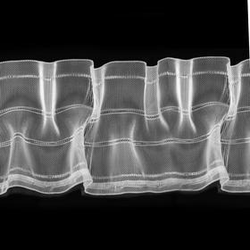 Tube tape tube, organza, 10 cm, 50 ± 1 m, color transparent