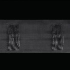 Шторная лента трубная, органза, 10 см, 50 ± 1 м, цвет прозрачный