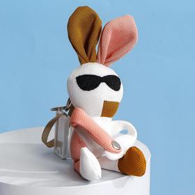 Мягкая игрушка на чемодан «Крутые зайцы», на брелоке МИКС