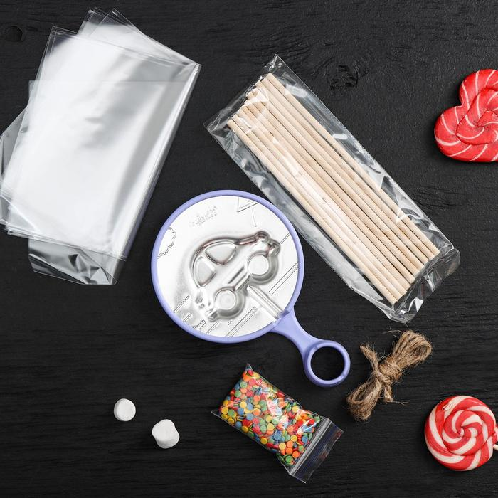 Набор для приготовления леденцов на палочке «Машинка» - фото 728633