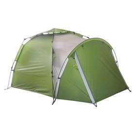 Палатка BTrace Omega 4+ быстросборная, двухслойная, четырёхместная, цвет зеленый