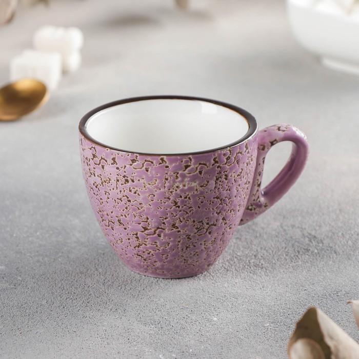 Кофейная чашка Wilmax Splash, 110 мл, цвет сиреневый - фото 728718