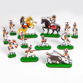 Игровой набор солдат «Наполеон» 12 героев, 24 предмета