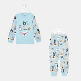 Пижама для мальчика, цвет голубой, рост 104 см (4)