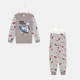 Пижама для мальчика, цвет серый, рост 104 см (4)