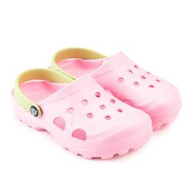 Сабо детские, цвет светло-розовый, размер 28-29