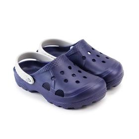 Сабо детские, цвет фиолетово-синий/серый, размер 28-29