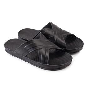 Children's sliders, black, size 41