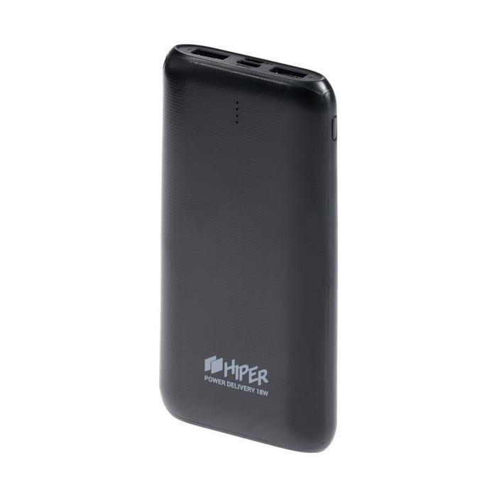 Внешний аккумулятор Hiper RPX10000, 10000 мАч, 2xUSB, 3А+2.4A, USB/Type-C, черный - фото 799224294