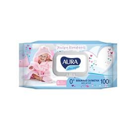 Влажные салфетки «Aura Ultra Comfort», детские, МИКС, 100 шт