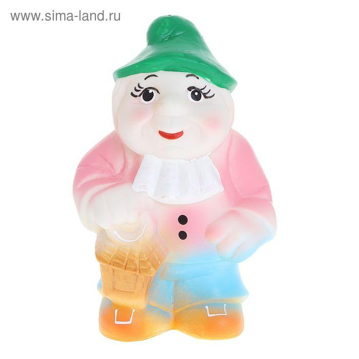 "Резиновая игрушка ""Гном с фонариком"", цвета МИКС"