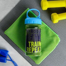 "Полотенце в банке ""Sleep. Eat. Train "", 30 х 80 см"
