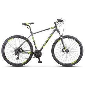 """Велосипед 29"""" Stels Navigator-930 D, V010, цвет антрацитовый/черный/лайм, размер 16,5"""""""