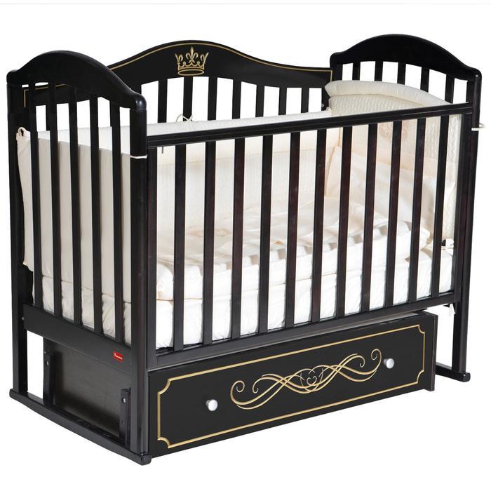 Кроватка Berta Elite, универсальный маятник, фигурная спинка, ящик, цвет шоколад - фото 9020739