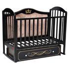 Кроватка Berta Elegance Premium, универсальный маятник, фигурная спинка, ящик, цвет шоколад   689305 - фото 9020745