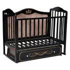 Кроватка Stephania Elegance Premium, автостенка, универсальный маятник, ящик, цвет шоколад - фото 9020772
