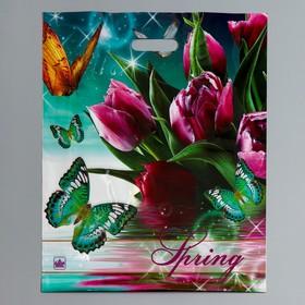 """Пакет """"Весна - Волшебница"""" полиэтиленовый, с вырубной ручкой, 38 х 45 см, 60 мкм"""