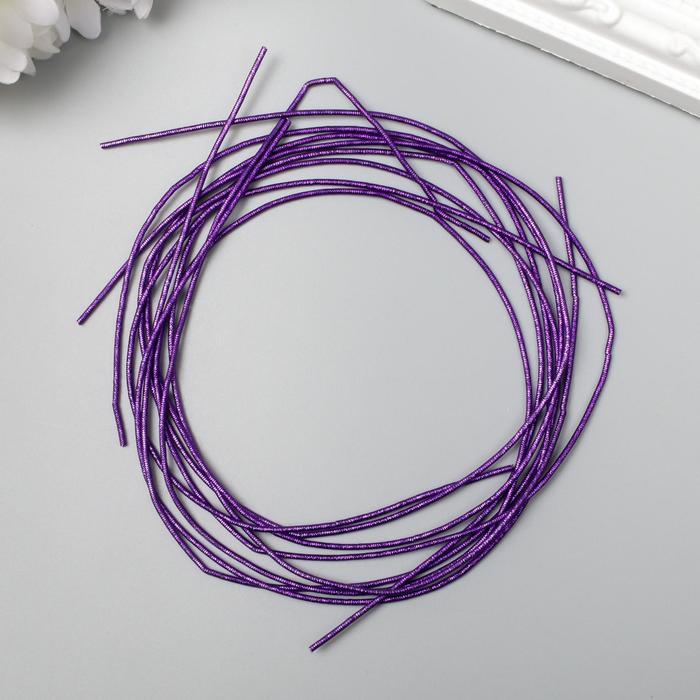 Канитель мягкая, фигурная 1,5 мм металлик, фиолетовый микс 5 гр - фото 9021231
