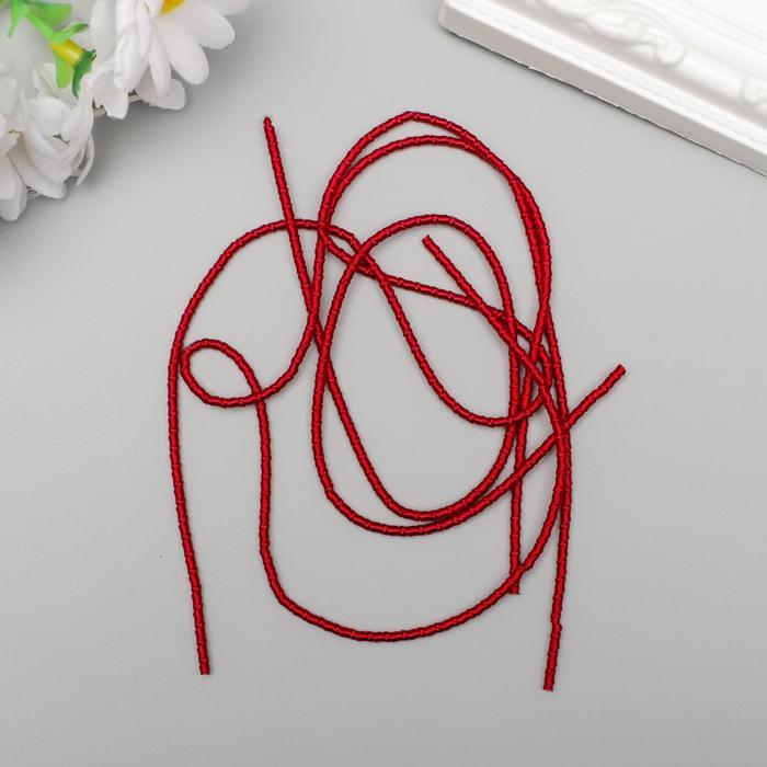 Канитель мягкая, фигурная 2 мм матовый, красный 5 гр - фото 9021255