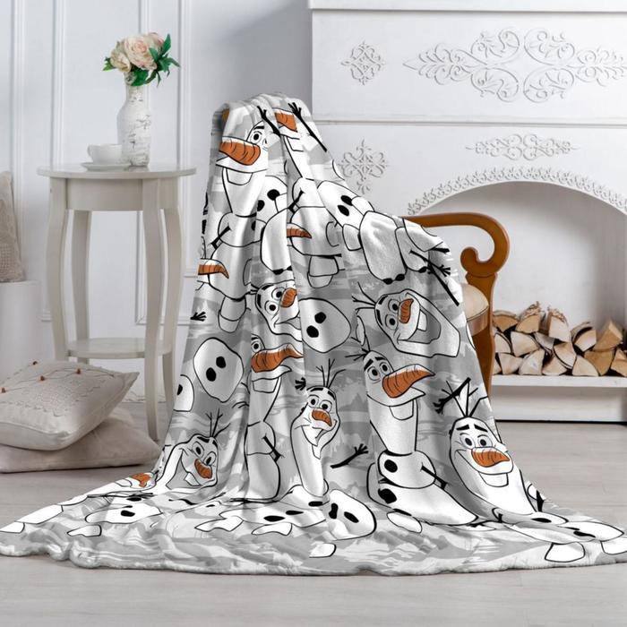 Плед «Павлинка» Холодное Сердце-2 Олаф, размер 100х150 см - фото 7373459