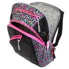 Рюкзак молодёжный, Merlin, 45 x 30 x 14 см, эргономичная спинка, чёрный/розовый - фото 815733