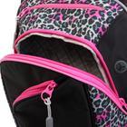 Рюкзак молодёжный, Merlin, 45 x 30 x 14 см, эргономичная спинка, чёрный/розовый - фото 815735