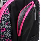 Рюкзак молодёжный, Merlin, 45 x 30 x 14 см, эргономичная спинка, чёрный/розовый - фото 815736