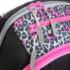 Рюкзак молодёжный, Merlin, 45 x 30 x 14 см, эргономичная спинка, чёрный/розовый - фото 815729