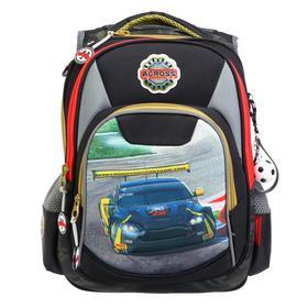 Рюкзак школьный эргоном.спинка Across DH5 39*29*17 мал, серый/черный DH5-1