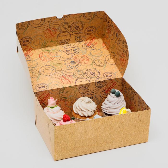 """Коробка складная, двухсторонняя """" Post office """" 25 х 15 х 10 см - фото 9021506"""
