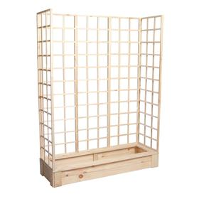 Грядка деревянная, 150 × 50 × 22 см, с тремя шпалерами h = 180 см, Greengo