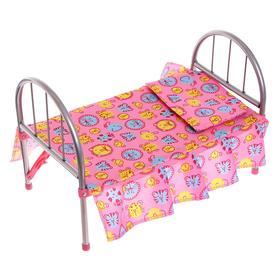 Кроватка для кукол, металлический каркас