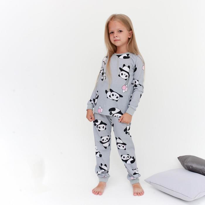 "Пижама (джемпер, брюки) KAFTAN ""Панды"" рост 98-104 (30) - фото 107030503"