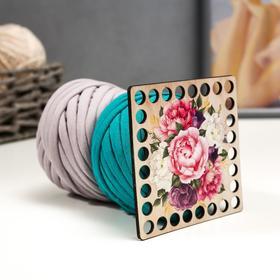 Набор для вязания (донышко фанера 10см, трик. пряжа 25м, 7-9мм-2 мотка) №9