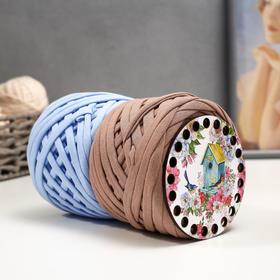 Набор для вязания (донышко фанера 10см, трик. пряжа 50м, 7-9мм-2мотка) №18