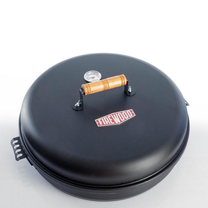 """Коптильня круглая """"FIREWOOD"""" большая, 45*15 см - фото 282127505"""