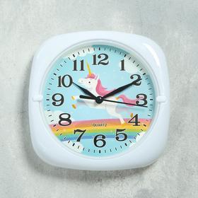 """Часы настенные """"Единорог"""", d=17 см, 3 ААА, дискретный ход, 24х4х11 см"""