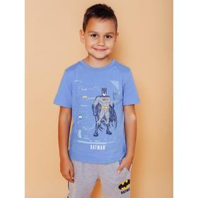Футболка для мальчиков Batman, рост 122 см, цвет синий