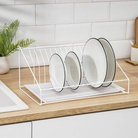 {{photo.Alt || photo.Description || 'Сушилка для посуды с поддоном, 38×17,5×23,5 см, цвет белый'}}