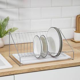 {{photo.Alt || photo.Description || 'Сушилка для посуды с поддоном, 38×17,5×23,5 см, цвет хром'}}