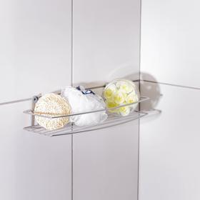 Полка для ванной прямая, 35×13×7,5 см, цвет хром