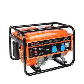 Генератор бензиновый PATRIOT MaxPowerSRGE3500, 4Т, 2.8 кВт, 2х220/12 В, ручной стартер