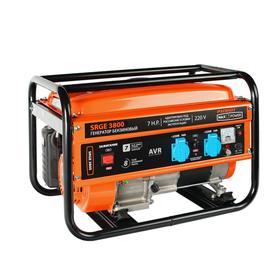 Генератор бензиновый PATRIOT MaxPowerSRGE3800, 3 кВт, 4Т, 2х220/12 В, ручной стартер