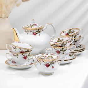 Сервиз чайный Czech Gold Hands «Шиповник», 14 предметов