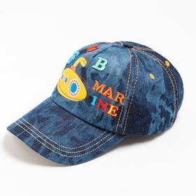 Бейсболка для мальчика, цвет джинс, размер 54-56