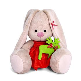 Мягкая игрушка «Зайка Ми в красном платье», 15 см